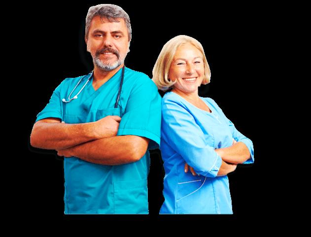 a caregiver and nurse
